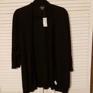 Open front black cardigan NWT women's 2X